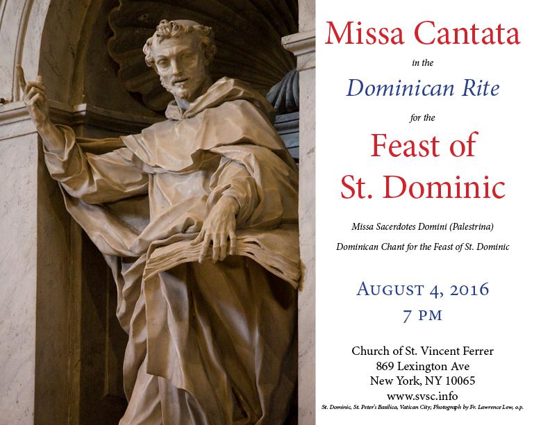 St. Dominic Missa Cantata Poster