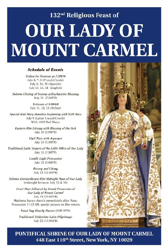mount carmel mature dating site Bill o'reilly, the former fox news host, is a big donor to the centennial campaign of our lady of mount carmel,  bronx church's o'reilly factor: .