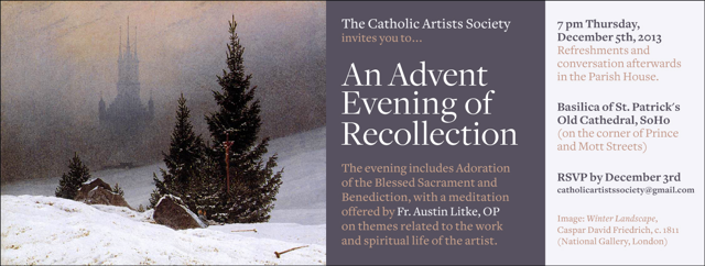 CAS Advent 2013 invitation