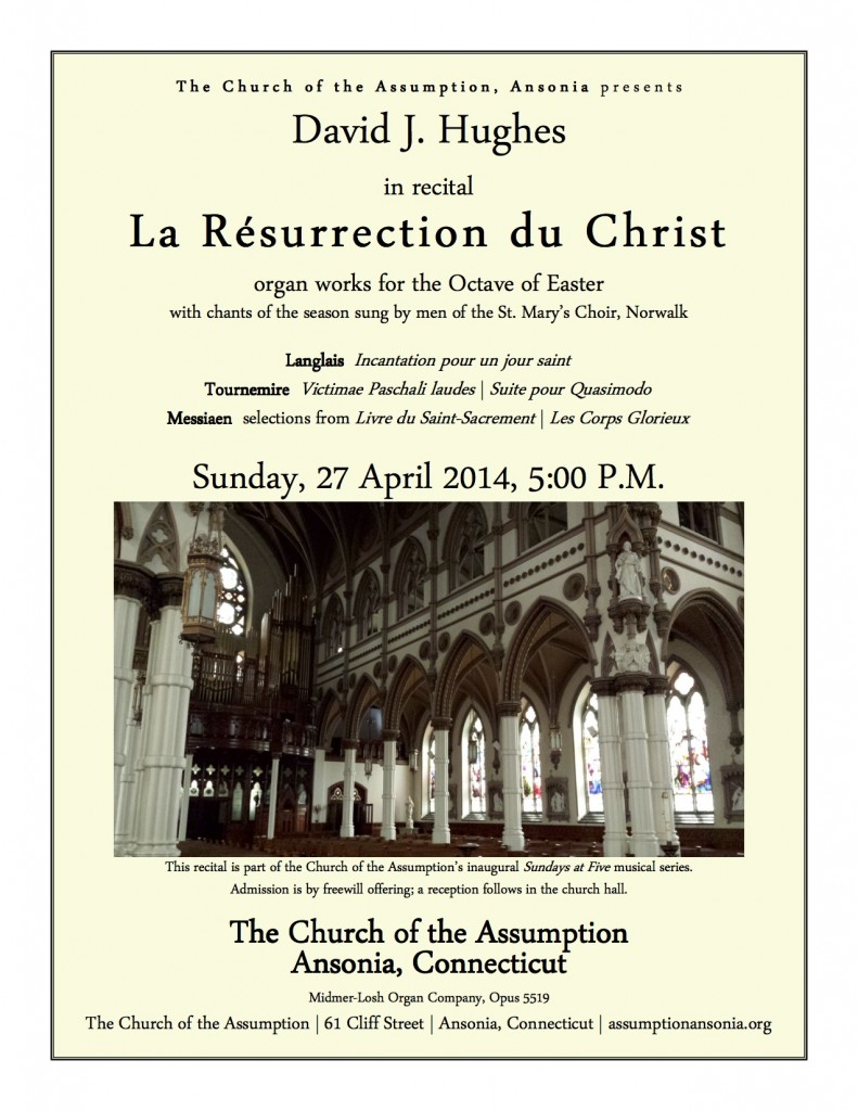 DJH recital - Assumption, Ansonia - 27 April 2014