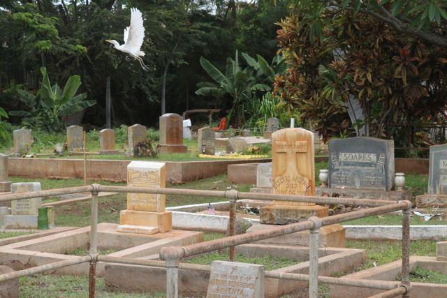 cemetery of Maria Lanakila Church, Lahaina, Maui