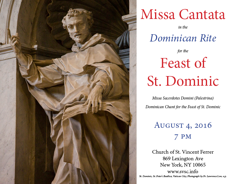 St. Dominic Missa Cantata Poster