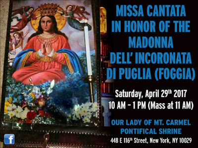 Missa Cantata Madonna Incoronata 2017